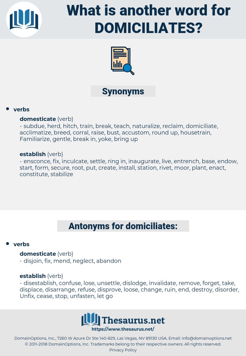 domiciliates, synonym domiciliates, another word for domiciliates, words like domiciliates, thesaurus domiciliates