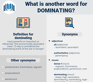 dominating, synonym dominating, another word for dominating, words like dominating, thesaurus dominating