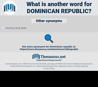 Dominican Republic, synonym Dominican Republic, another word for Dominican Republic, words like Dominican Republic, thesaurus Dominican Republic