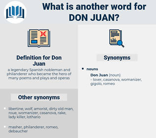 Don Juan, synonym Don Juan, another word for Don Juan, words like Don Juan, thesaurus Don Juan