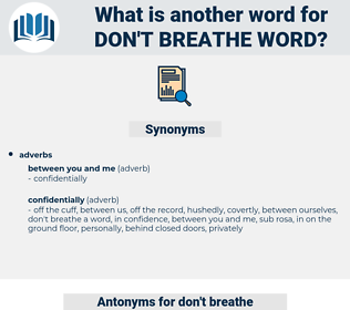 don't breathe word, synonym don't breathe word, another word for don't breathe word, words like don't breathe word, thesaurus don't breathe word