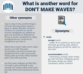 don't make waves, synonym don't make waves, another word for don't make waves, words like don't make waves, thesaurus don't make waves