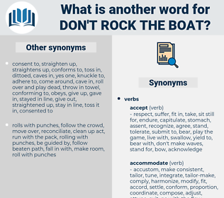 don't rock the boat, synonym don't rock the boat, another word for don't rock the boat, words like don't rock the boat, thesaurus don't rock the boat