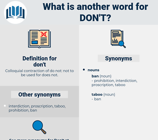 don't, synonym don't, another word for don't, words like don't, thesaurus don't