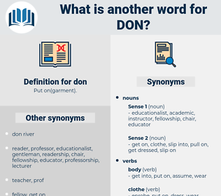 don, synonym don, another word for don, words like don, thesaurus don