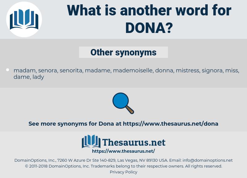 Dona, synonym Dona, another word for Dona, words like Dona, thesaurus Dona