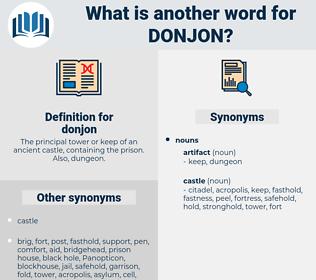 donjon, synonym donjon, another word for donjon, words like donjon, thesaurus donjon