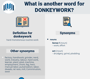 donkeywork, synonym donkeywork, another word for donkeywork, words like donkeywork, thesaurus donkeywork