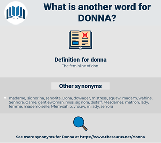 donna, synonym donna, another word for donna, words like donna, thesaurus donna