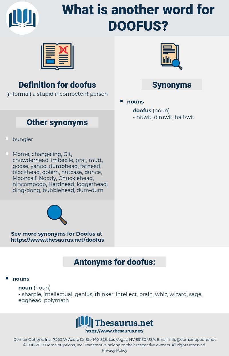 doofus, synonym doofus, another word for doofus, words like doofus, thesaurus doofus