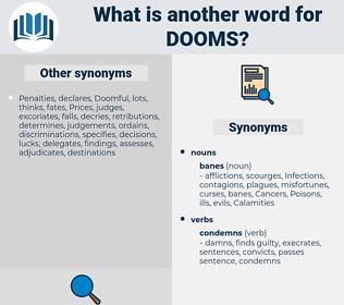 dooms, synonym dooms, another word for dooms, words like dooms, thesaurus dooms