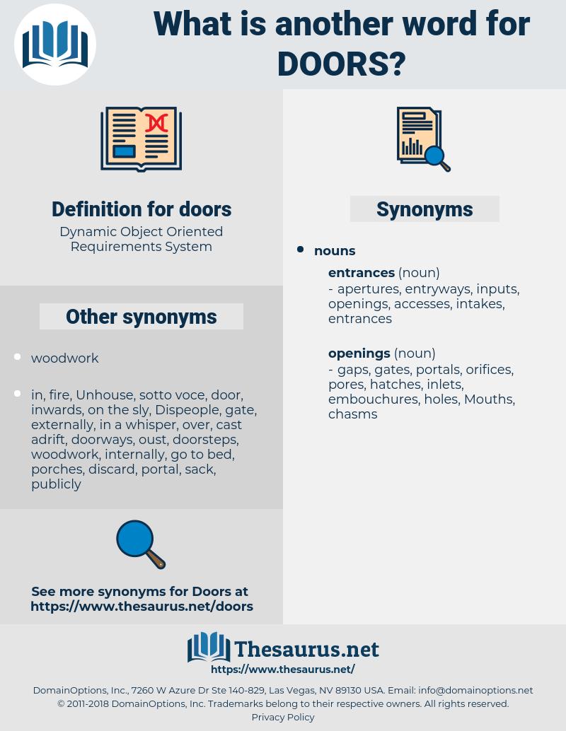 doors, synonym doors, another word for doors, words like doors, thesaurus doors