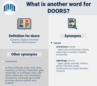 doors, synonym doors, another word for doors, words like doors, thesaurus doors
