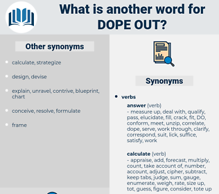 dope out, synonym dope out, another word for dope out, words like dope out, thesaurus dope out