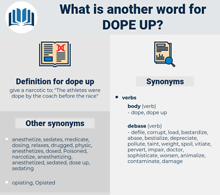 dope up, synonym dope up, another word for dope up, words like dope up, thesaurus dope up