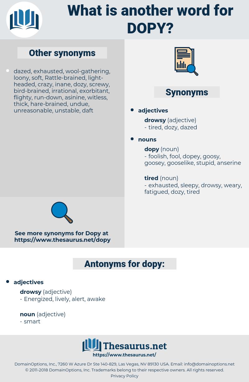 dopy, synonym dopy, another word for dopy, words like dopy, thesaurus dopy