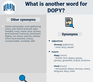 dopy, synonym dopy, another word for dopy, words like dopy, thesaurus dopy