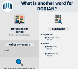 dorian, synonym dorian, another word for dorian, words like dorian, thesaurus dorian