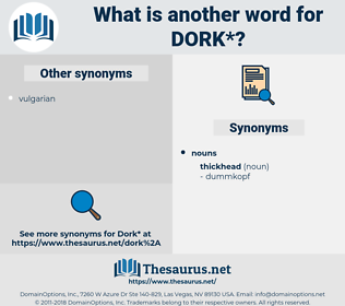 dork, synonym dork, another word for dork, words like dork, thesaurus dork