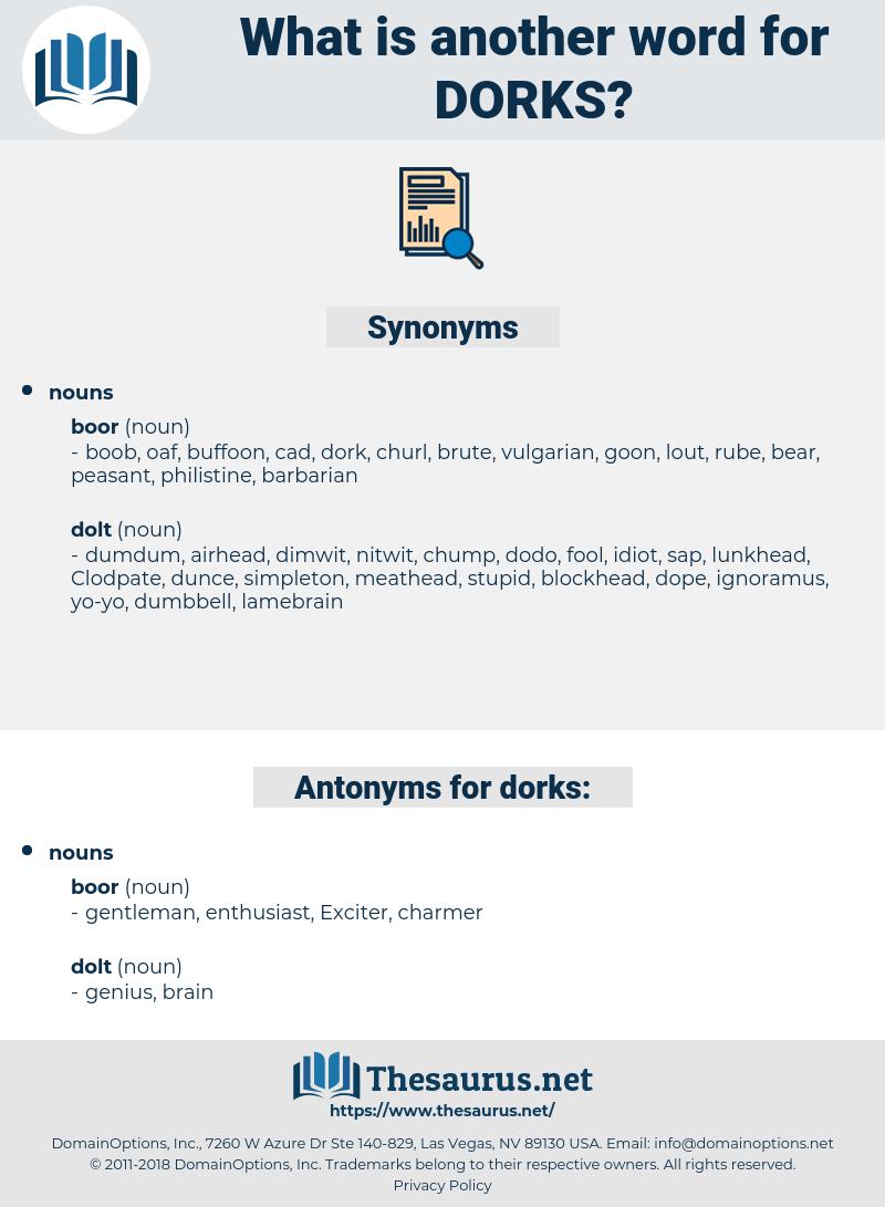 dorks, synonym dorks, another word for dorks, words like dorks, thesaurus dorks