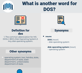 dos, synonym dos, another word for dos, words like dos, thesaurus dos