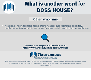 Doss house, synonym Doss house, another word for Doss house, words like Doss house, thesaurus Doss house