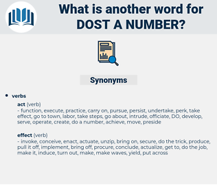 dost a number, synonym dost a number, another word for dost a number, words like dost a number, thesaurus dost a number