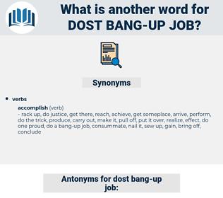 dost bang up job, synonym dost bang up job, another word for dost bang up job, words like dost bang up job, thesaurus dost bang up job