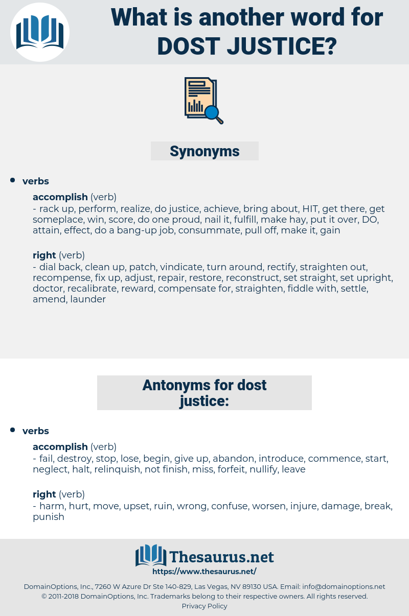 dost justice, synonym dost justice, another word for dost justice, words like dost justice, thesaurus dost justice