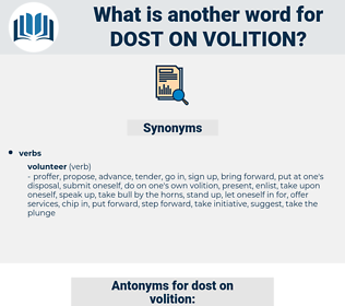 dost on volition, synonym dost on volition, another word for dost on volition, words like dost on volition, thesaurus dost on volition