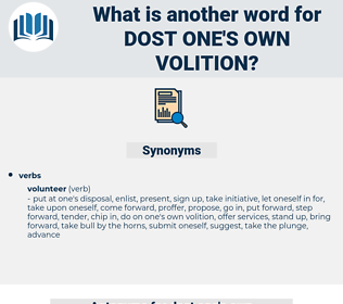 dost one's own volition, synonym dost one's own volition, another word for dost one's own volition, words like dost one's own volition, thesaurus dost one's own volition