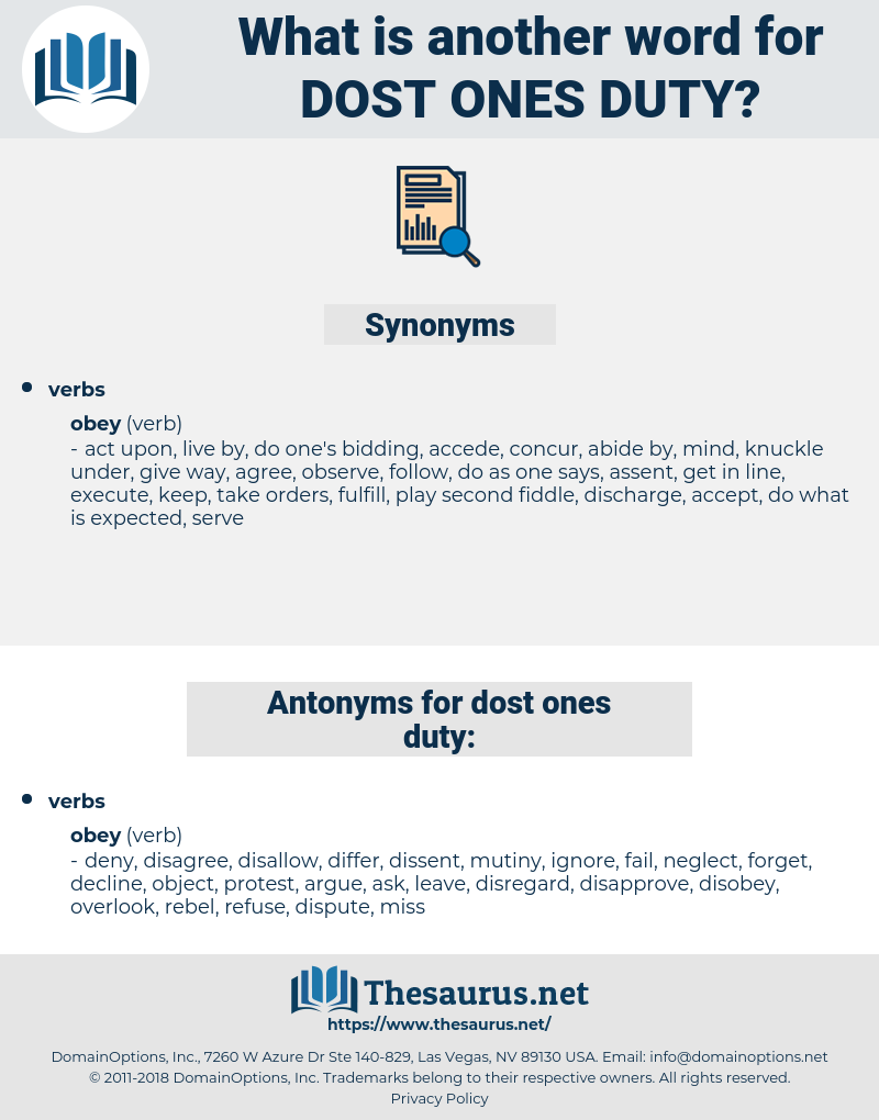 dost ones duty, synonym dost ones duty, another word for dost ones duty, words like dost ones duty, thesaurus dost ones duty