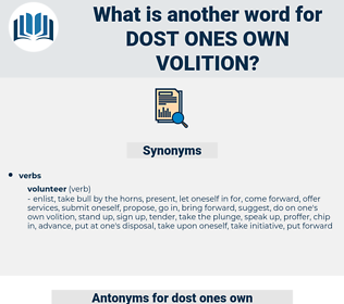 dost ones own volition, synonym dost ones own volition, another word for dost ones own volition, words like dost ones own volition, thesaurus dost ones own volition