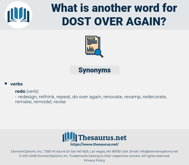 dost over again, synonym dost over again, another word for dost over again, words like dost over again, thesaurus dost over again