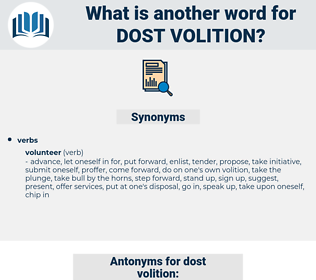 dost volition, synonym dost volition, another word for dost volition, words like dost volition, thesaurus dost volition