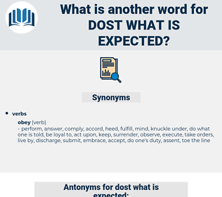 dost what is expected, synonym dost what is expected, another word for dost what is expected, words like dost what is expected, thesaurus dost what is expected