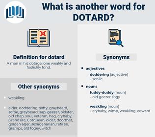 dotard, synonym dotard, another word for dotard, words like dotard, thesaurus dotard