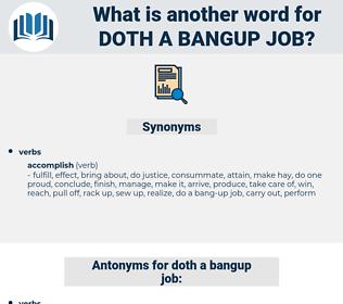 doth a bangup job, synonym doth a bangup job, another word for doth a bangup job, words like doth a bangup job, thesaurus doth a bangup job