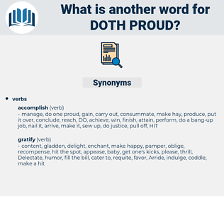doth proud, synonym doth proud, another word for doth proud, words like doth proud, thesaurus doth proud