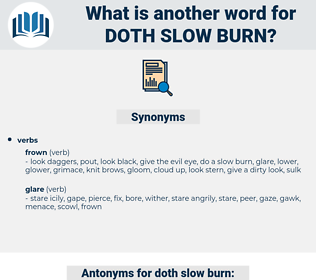 doth slow burn, synonym doth slow burn, another word for doth slow burn, words like doth slow burn, thesaurus doth slow burn