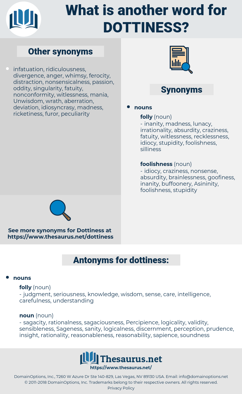 dottiness, synonym dottiness, another word for dottiness, words like dottiness, thesaurus dottiness