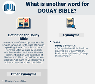 Douay Bible, synonym Douay Bible, another word for Douay Bible, words like Douay Bible, thesaurus Douay Bible