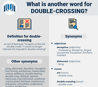 double-crossing, synonym double-crossing, another word for double-crossing, words like double-crossing, thesaurus double-crossing