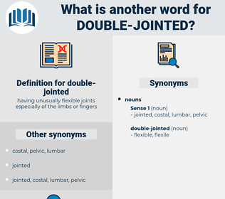 double-jointed, synonym double-jointed, another word for double-jointed, words like double-jointed, thesaurus double-jointed