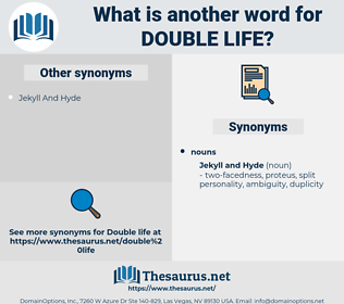 double life, synonym double life, another word for double life, words like double life, thesaurus double life