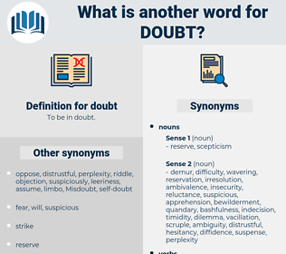 doubt, synonym doubt, another word for doubt, words like doubt, thesaurus doubt
