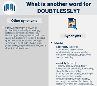 Doubtlessly, synonym Doubtlessly, another word for Doubtlessly, words like Doubtlessly, thesaurus Doubtlessly
