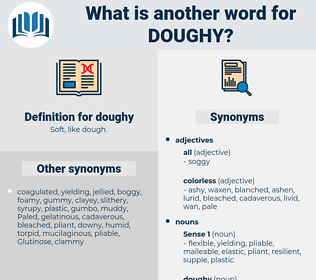doughy, synonym doughy, another word for doughy, words like doughy, thesaurus doughy