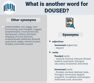 Doused, synonym Doused, another word for Doused, words like Doused, thesaurus Doused