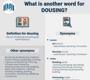 dousing, synonym dousing, another word for dousing, words like dousing, thesaurus dousing